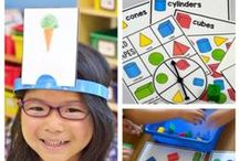 A Place Called Shapes / Kindergarten shape activities that include shape art projects