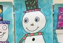 A Place Called January / January activities and art projects that includes lots of snow, snowman crafts and winter animal activities