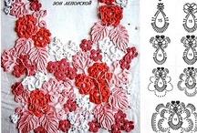 Crochet ~ Irish & Russian ~ elements / Paisley & other elements used in free form crochet like Irish Crochet & Russian Crochet / by Nina Riggs #1