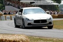 Maserati at 2013 Goodwood Festival of Speed / The GranCabrio MC, the GranTurismo MC Stradale four seater and, making its official UK debut, the new #MaseratiGhibli. These were the three Maserati models that sped up the hill, among other #supercars, at the 2013 #Goodwood Festival of Speed in front of 150,000 spectators.  A stunning display of the 6 generations of Quattroporte also adorned the Press Centre for the delight of the Trident Marque's enthusiasts.  Read more: http://bit.ly/18jziJJ