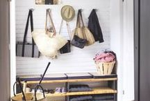 Mudroom Inspiration / Ideas and inspiration for a useful, but pretty mudroom.  #mudroom  #homedecor  #interiordesign  #decorideas / by making it in the mountains