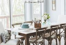 Dining Room Inspiration / Ideas and inspiration for a rustic shabby chic Dining Room.  #homedecor  #interiordesign  #diningroom  #decorideas  #rustic  #shabbychic / by making it in the mountains