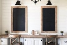 Home Office Inspiration / Inspiring Ideas for our Home Office.   #homedecor #DIY #home #interiordesign #decor #rustic #farmhouse #fixerupper #homeoffice #office #officespace #workfromhome