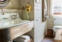 Bathroom Inspiration / Inspiration for a beautiful bathroom.    #homedecor #DIY #home #interiordesign #decor #rustic #farmhouse #fixerupper #bathroom #guestbath #masterbathroom