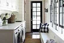 Laundry Room Inspiration / Ideas and inspiration for our Laundry Room.    #homedecor #DIY #home #interiordesign #decor #rustic #farmhouse #fixerupper #laundryroom