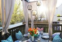 Deck Ideas / Inspiration for a pretty outdoor space.  #deck  #outdoorliving  #homedecor / by making it in the mountains