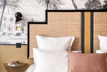Bedrooms / Creative inspiration to banish a boring bedroom! Colourful bedrooms, stylish nightstands, glamorous settings and comfortable boho styles along side an eclectic mix of bedrooms that look great whilst staying comfortable.