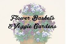 Flower Baskets & Garden Veggies / by This Old Thing Designs