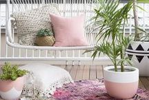 Outside spaces / Create a stylish look for your outside space from beautiful balconies to perfect patios to delectable decks, here you'll find a wealth of inspiration for affordable and creative ideas in bold colours and bohemian comfort.