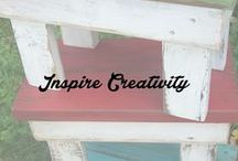 Inspire Creativity / Shabby, rustic,  Bringing new life to simple things.....  / by This Old Thing Designs