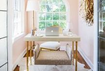 Home Offices / Carving out a creative space at home means adding lots of personality! Here you'll find an eclectic mix of beautiful home office spaces, small and large. Think bold styling and exciting innovative DIYs, a touch of glamour and stunning home office accessories.