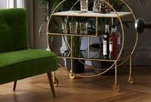 Beyond the Bar Cart / What's your poison? Pour yourself a tipple and check out a whole host of inspiring bar carts, home bars and bar areas for a taste of 60's glam in your home.