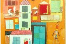 pencil case, colors and fantasy / ART part 3: paintings, illustration, print...