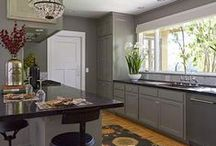 Kitchens / Love all the details in a kitchen, cabinets, countertops, shelving, sinks, faucets, butlers pantry, ranges, oven, microwave, double ovens, dishwasher, lighting, kitchen organization, flooring, pantry, bars, raised bars, backsplash, islands, granite, marble, glass cabinets, wood countertops, etc.,  / by Patty Rumaker