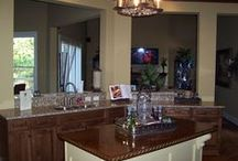 Countertops / So many choices for countertops, granite countertops, marble countertops, wood countertops, recycled glass countertops, formica countertops, concrete countertops, honed granite, rustic countertops, glass countertops, butcher block countertops, etc.,