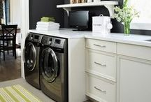 Laundry Rooms / Laundry Rooms can be functional and beautiful and have multiple purposes. Washing machines, dryers, storage, cabinetry, countertops, dog baths, dog doors, shelving, etc.,