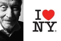 Graphic Design ► Milton Glaser / Milton Glaser (born June 26, 1929) is an American graphic designer, best known for the I ♥ NY logo,[1] his Bob Dylan poster, the DC bullet logo used by DC Comics from 1977 to 2005, and the Brooklyn Brewery logo.[2] He also founded New York Magazine with Clay Felker in 1968.