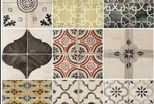 Materials etc.... / Tiles, paints, floors, sisustus materiaalit