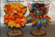 The Northern Faeries / These Faeries are adapted from our northern nursery depicting our Midnight Sun and Aurora (Borealis).