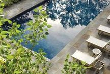 pool and yard / Backyard pool design and yard decor. / by hollywood housewife