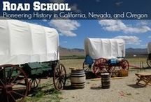Road School: Pioneering / Field trip ideas that families can enjoy and do together to learn the history of America's Western Expansion. Topics include homesteading, Gold Rush history, the Oregon Trail, the Lewis & Clark Expedition, and the Louisiana Purchase.  Perfect for getting up to speed on this era of American history before heading out to to states east of the Mississippi.