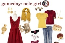 >>--Gameday Swag--;-> / As FSU rises and falls on the Top 25... the one thing that can remain consistent is fashionable game day attire. Go Noles! / by Nicole Kathryn