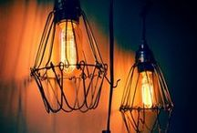 Antique Light Fixtures / Antique Style Fixtures and Retro Style Fixtures are trending! A great way to utilize those awesome antique light bulbs!