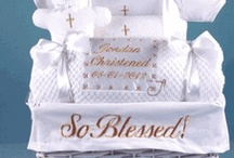 Christening Baby Gifts - Baptism Ideas / Baptismal and Christening Ideas for Decorations and Gifts. / by Stork Baby Gift Baskets
