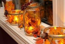 Fall Centerpieces / Wonderful decorating ideas for the Fall season...Don't forget, you can always add light elements to these!
