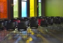 Interiordesign refurbishment church building De Voorhof Westerbork / Design: Denk Ruim Over Interior