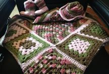 My creations.   By Becky Harvey / Crochet baby blanket with matching cowgirl boots and cowgirl hat.