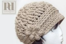 Hat and hair decor knitted and crochet