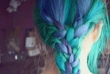 Hair / I like colors and braids, though I'm sure you'll see more than that on here.