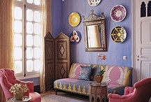 Inspired by Morocco / Interiors and exteriors from Morocco, or rooms inspired by the aesthetic of the country. Also, landmarks in Morocco, and fashion from or inspired by Morocco. Some architecture, some home decor, some spices. :)