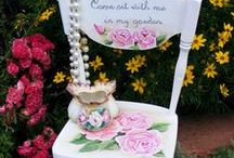 "Pretty Gardens  & Ideas / ""Tickle the earth with a rake and she will giggle flowers"""