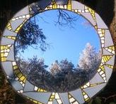 my handmade mosaics for sale - mosaic mirrors / mosaic mirrors for sale / commissions / different media / different sizes / suitable for interior/exterior