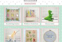 Bustle & Sew Magazine / A monthly magazine from Bustle & Sew. In each issue you'll find SIX original Bustle & Sew designs (techniques including embroidery, softies, hand sewing and applique) , interviews, recipes, articles, hints & tips and SO much more!   Pop over to our website for more information...  www.bustleandsew.com/magazine