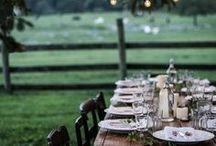 Gedeckter Tisch / Inspiration für natürliche, kreative und rustikale Tischdekoration