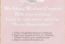 Wedding Wishes Contest / You could #win your #wedding flutes & cake server set or a personalized engagement ring box! 1. Follow Things Remembered on Pinterest. 2. Repin your favorite set from this board to your wedding board. 3. Repin a contest information pin. Contest ends 2-28-15. RULES: http://bit.ly/1EMFEjL / by Things Remembered