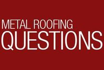 Roofing Questions / Common questions we get all the time about roofing, metal roofing, the pros and cons, and features and benefits of a metal roof.