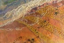 Quilted landscapes / use textiles and embellishments to create a picture or feeling / by Donna C