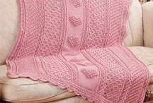 Crochet - Mantas e colchas / Para bebês, quadradinhos, de sofá...