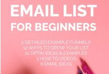 Email Marketing Tips / How to build your email list and increasing your email marketing skills and strategy!