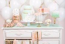 DESSERT TABLE IDEAS / A collection of our favorite dessert tables found via Rebekah Dempsey at https://ablissfulnest.com.