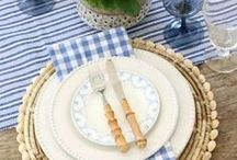 TABLESCAPE IDEAS / A collection of our favorite tablescape ideas! Grab tips and tricks to create your dream home with our carefully curated boards! Curated by Rebekah Dempsey of A Blissful Nest. https://ablissfulnest.com
