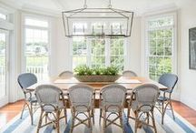 DINING ROOM IDEAS / A collection of our favorite dining room ideas! Grab tips and tricks to create your dream dining room! Curated by Rebekah Dempsey of A Blissful Nest. https://ablissfulnest.com