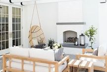 OUTDOOR SPACES / A collection of our favorite outdoor spaces ideas! Grab tips and tricks to create your dream outdoor spaces! Curated by Rebekah Dempsey of A Blissful Nest. https://ablissfulnest.com