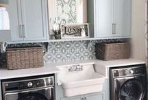 LAUNDRY ROOM IDEAS / A collection of our favorite laundry room ideas! Grab tips and tricks to create your dream laundry! Curated by Rebekah Dempsey of A Blissful Nest. https://ablissfulnest.com
