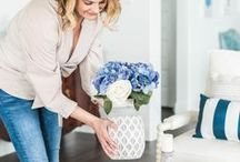 BLUE AND WHITE HOME DECOR IDEAS / A collection of our favorite blue and white home decor ideas! Grab tips and tricks to create your dream home! Curated by Rebekah Dempsey of A Blissful Nest. https://ablissfulnest.com