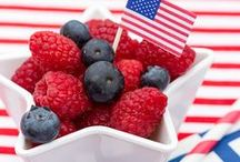 RED, WHITE & BLUE / Red, white and blue decor, entertaining and DIY tutorials from the best bloggers and taste makers!